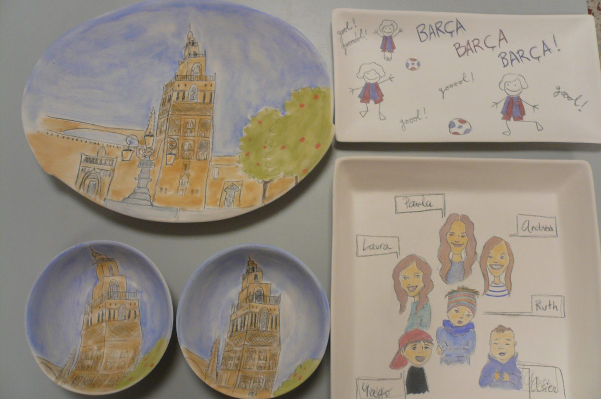 Platos de cerámica personalizados a mano